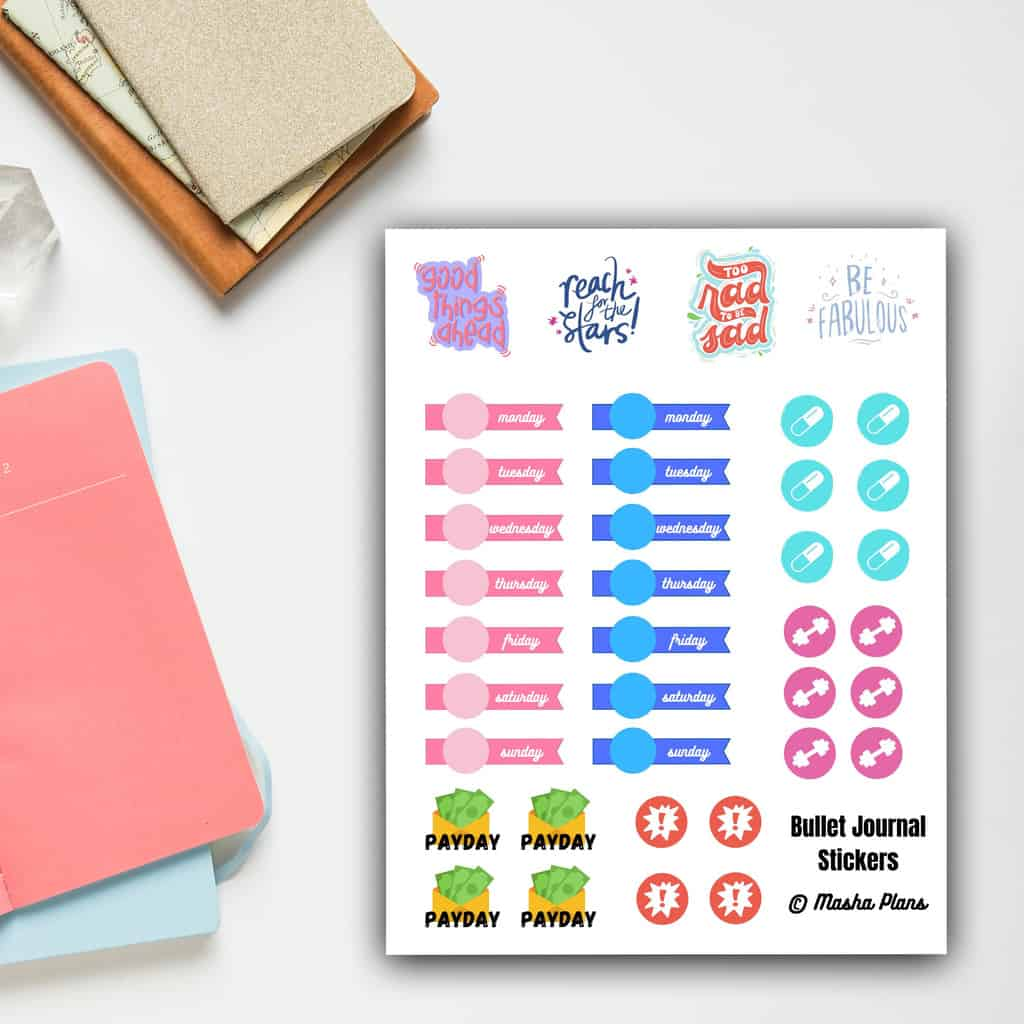Free Printable Planner Stickers | Masha Plans