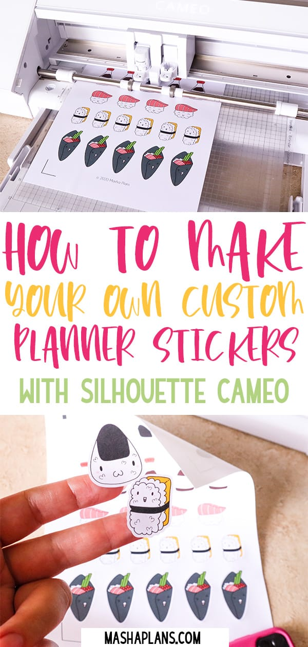 How To Create Stickers With Silhouette Cameo 4 | Masha Plans