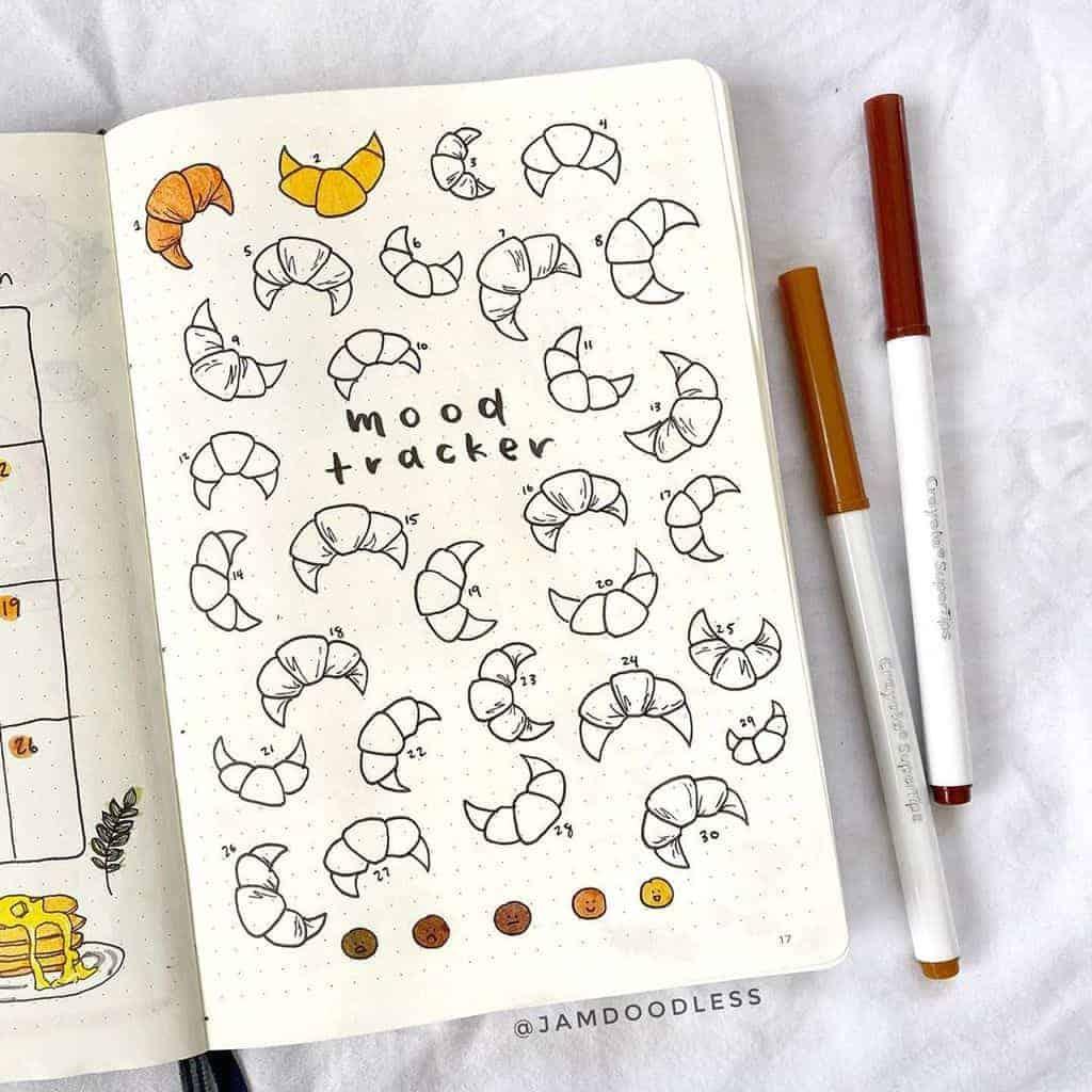 Bullet Journal Mood Tracker by @jamdoodless | Masha Plans