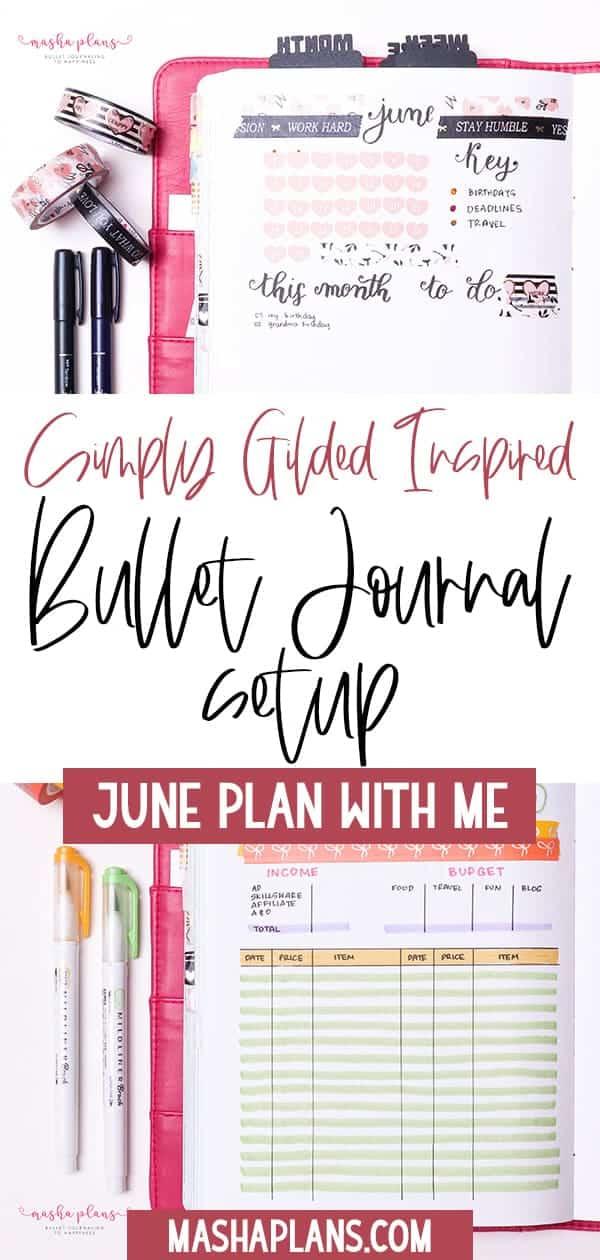 Plan With Me: June Bullet Journal Setup | Masha Plans