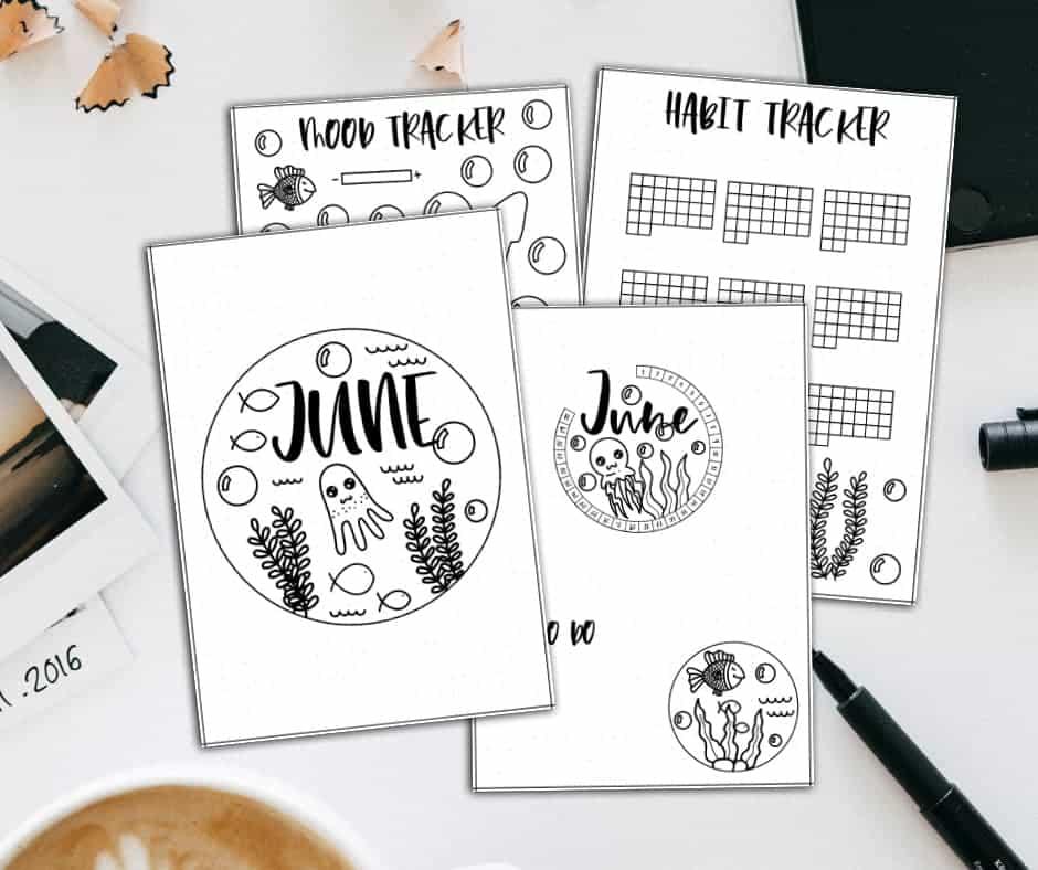 Patreon rewards complete June Bullet Journal Setup | Masha Plans