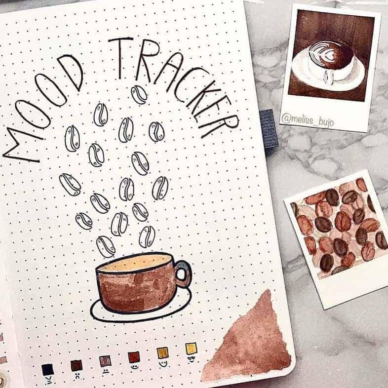 Bullet Journal Mood Tracker by @littlemoreplanner | Masha Plans