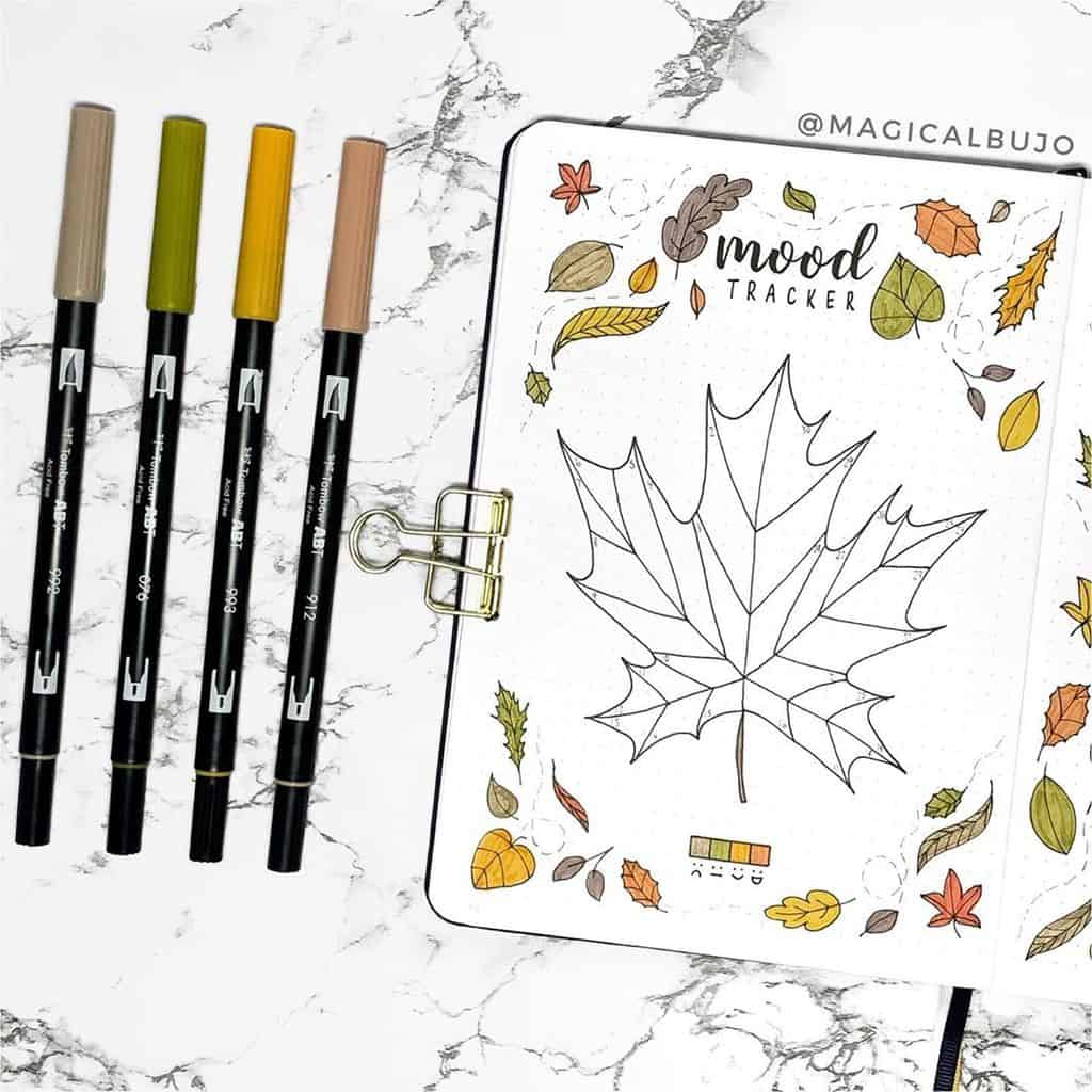 Bullet Journal Mood Tracker by @magicalbujo | Masha Plans