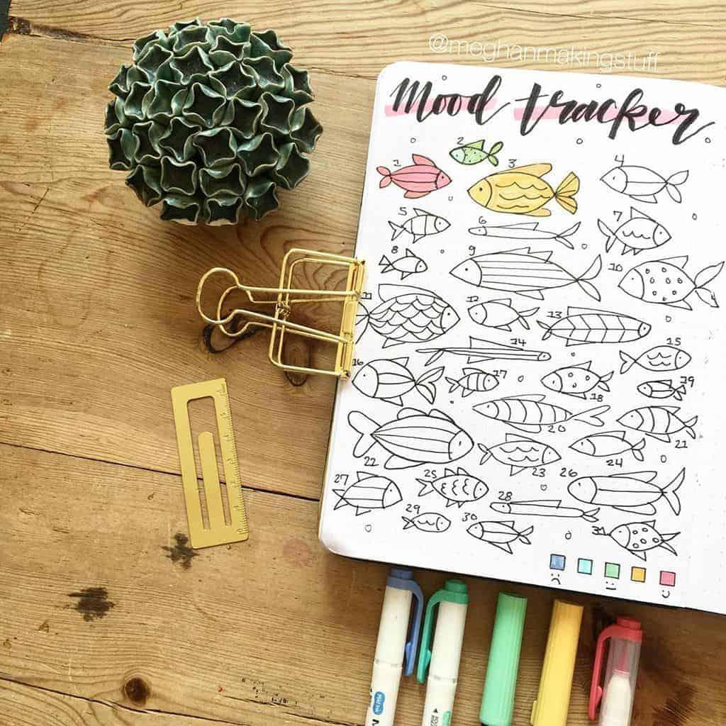Bullet Journal Mood Tracker by @meghanmakingstuff | Masha Plans