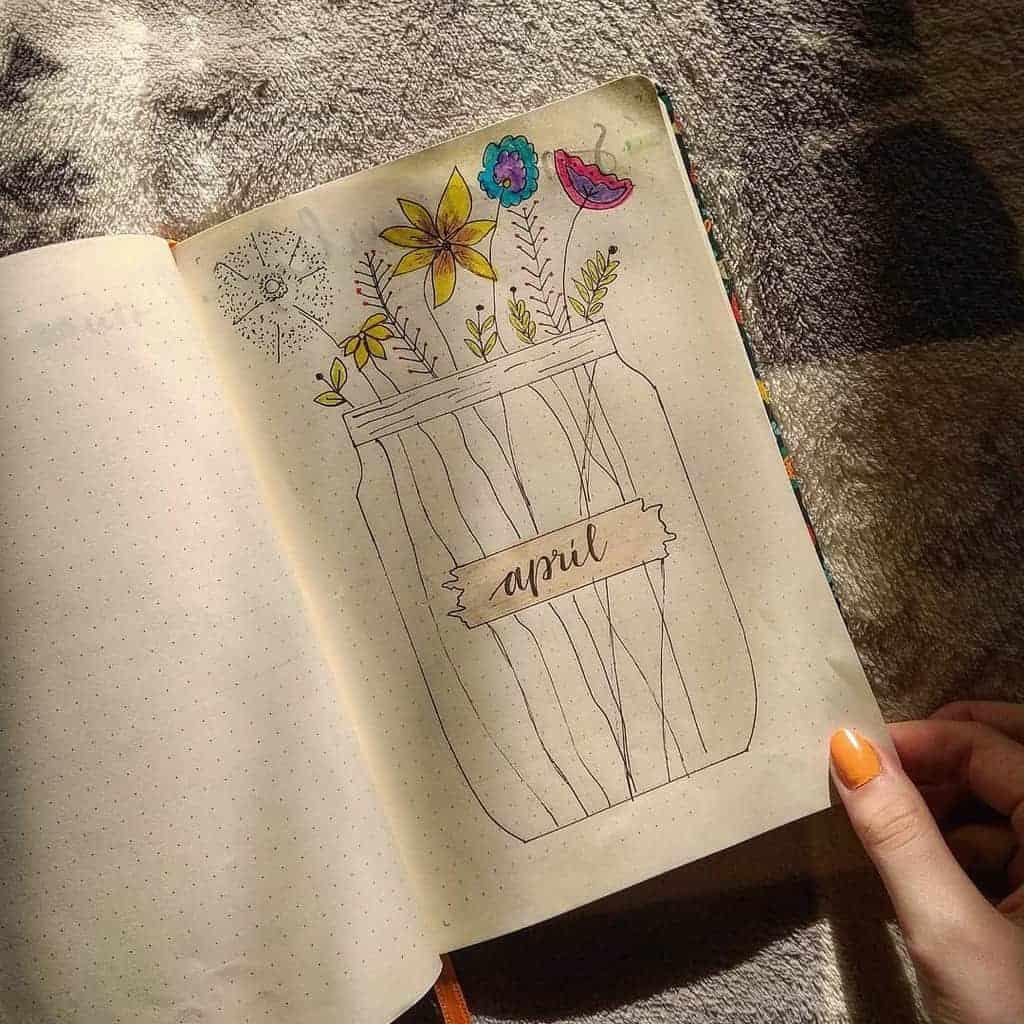 Kraft Paper Journal Spread by @pisane_s_laskou | Masha Plans