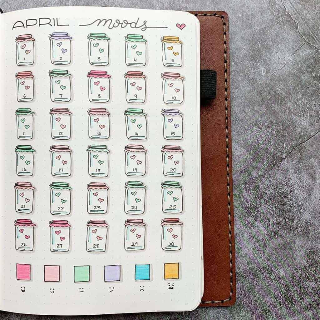 Mood Tracker by @plansthatblossom | Masha Plans