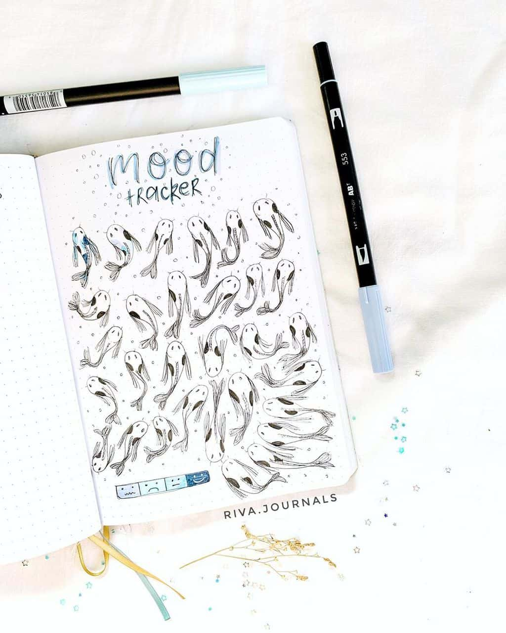 Mood Tracker by @riva.journals | Masha Plans