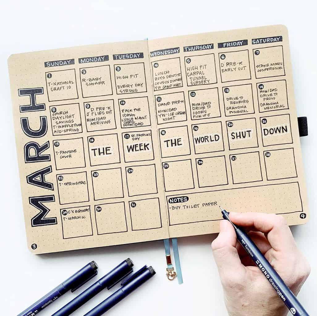 Kraft Paper Journal Spread by @studio80design | Masha Plans