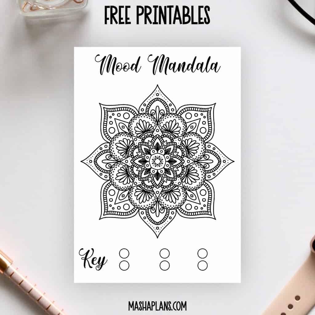 Mood Mandala Free Printable | Masha Plans
