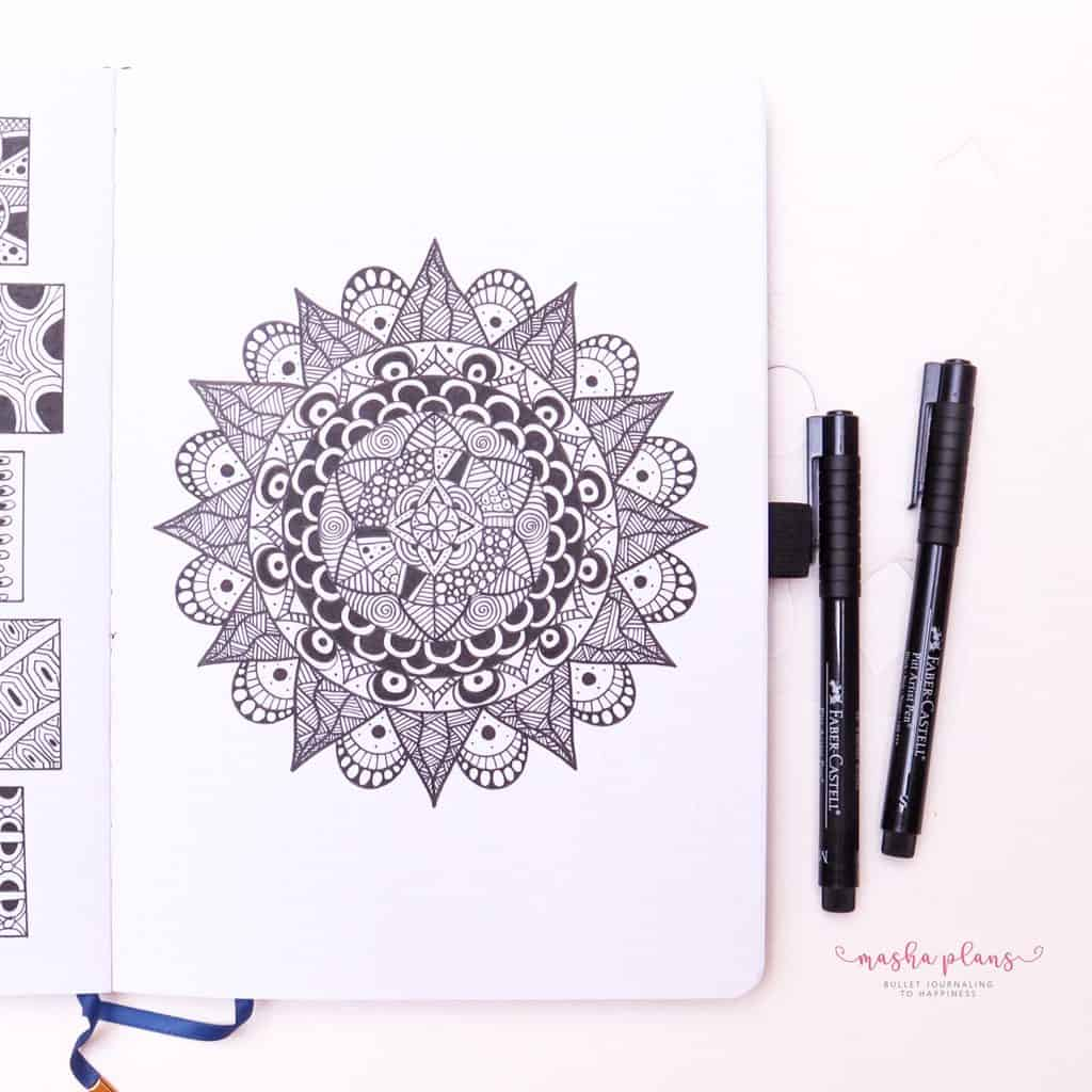 How To Draw & Use Mandalas In Your Bullet Journal | Masha Plans