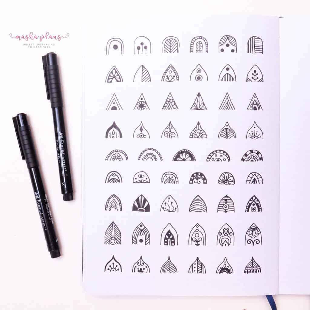 How To Draw & Use Mandalas In Your Bullet Journal - mandala patterns| Masha Plans