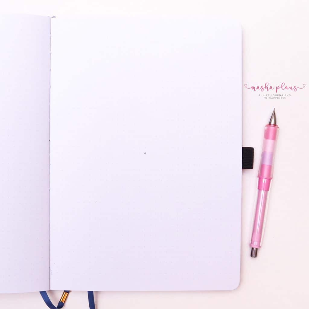 How To Draw & Use Mandalas In Your Bullet Journal - step 1 find center| Masha Plans