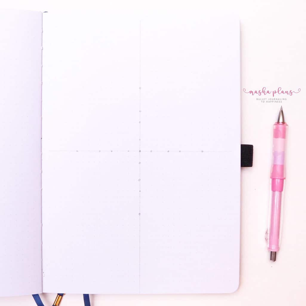 How To Draw & Use Mandalas In Your Bullet Journal - step 3 add dots| Masha Plans