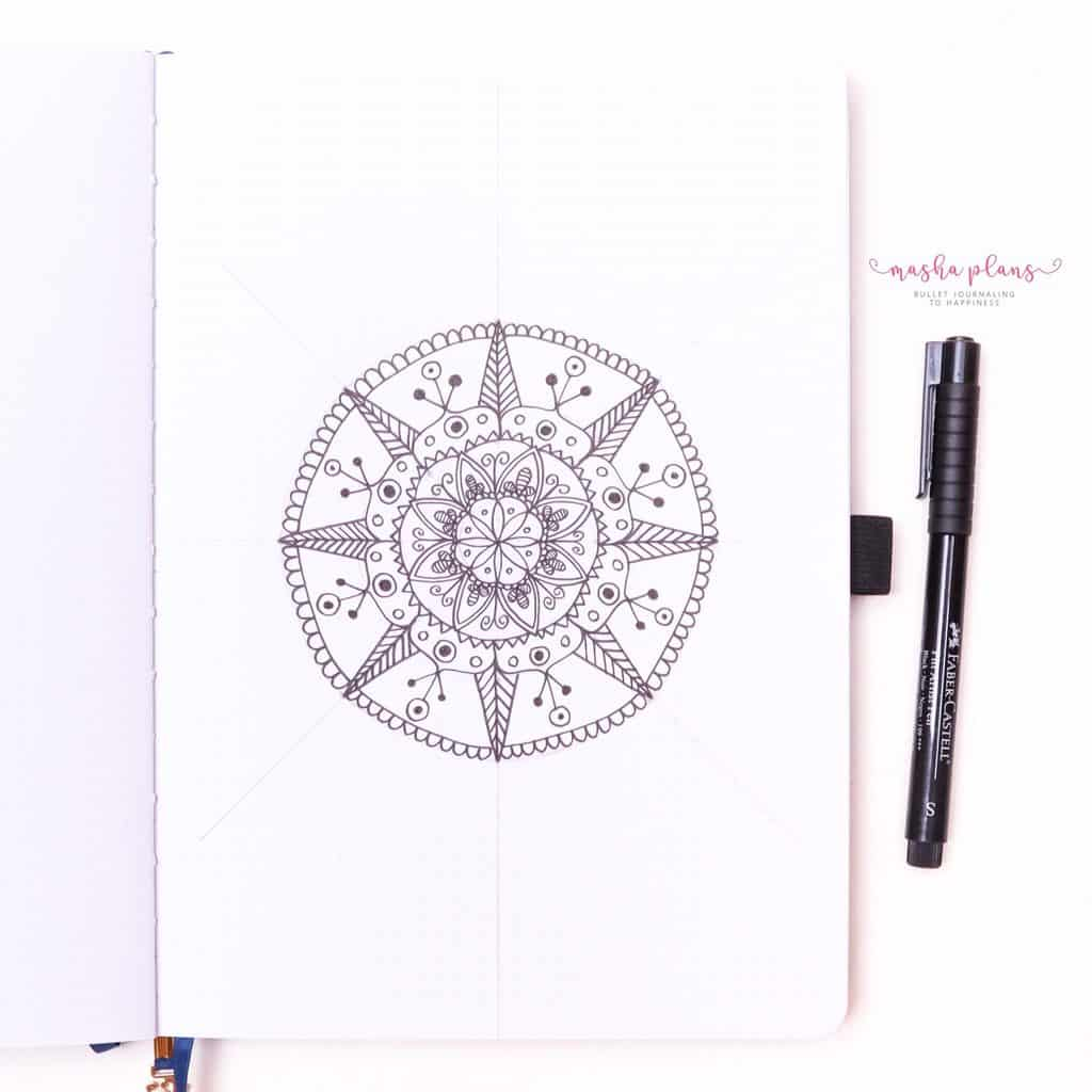 How To Draw & Use Mandalas In Your Bullet Journal - keep adding more designs | Masha Plans