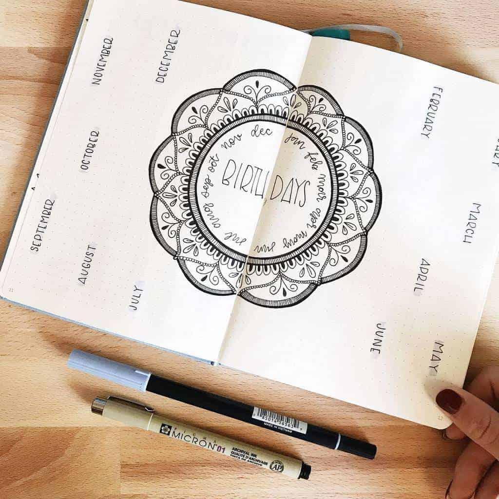 Mandala Bullet Journal