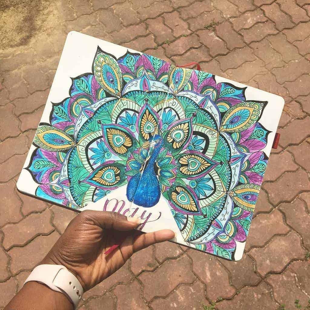 Mandala Bullet Journal Cover Page by @bellemichou | Masha Plans