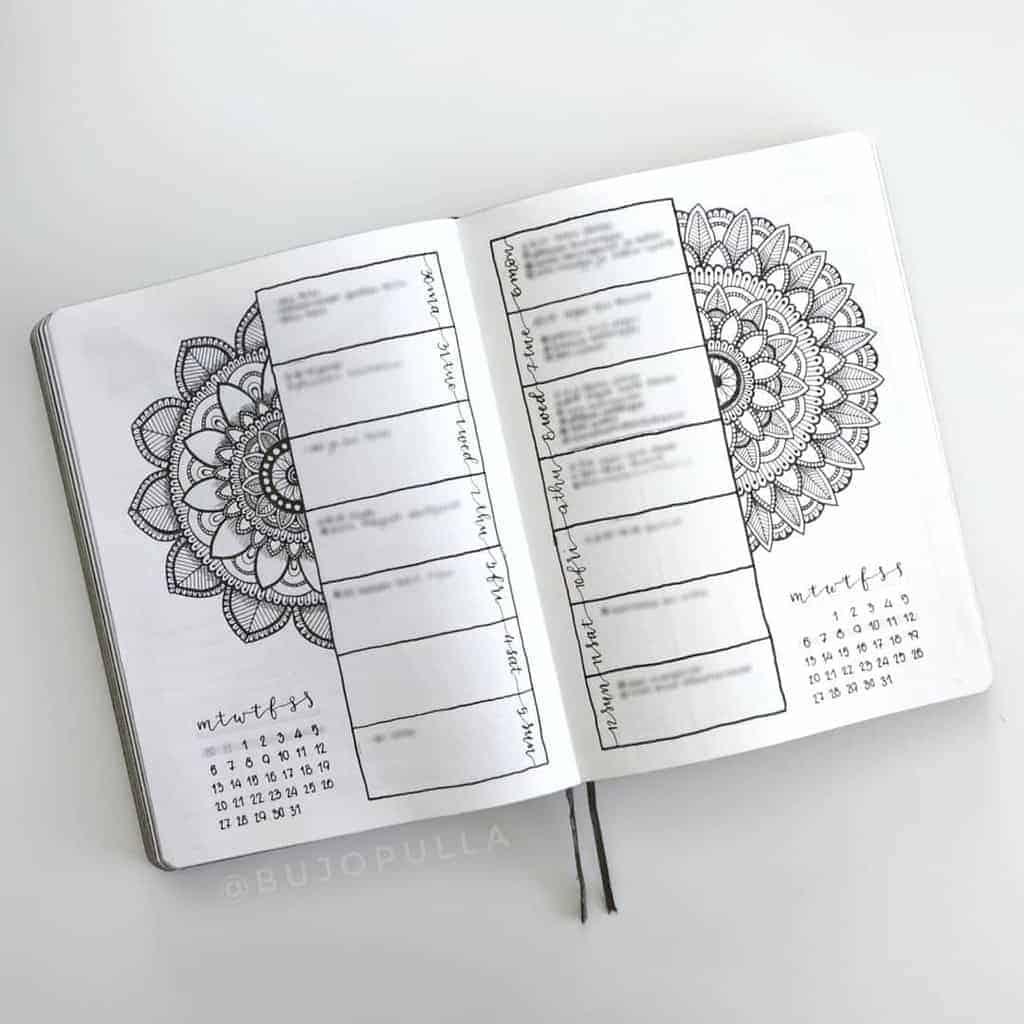Mandala Bullet Journal Weekly by @bujopulla | Masha Plans