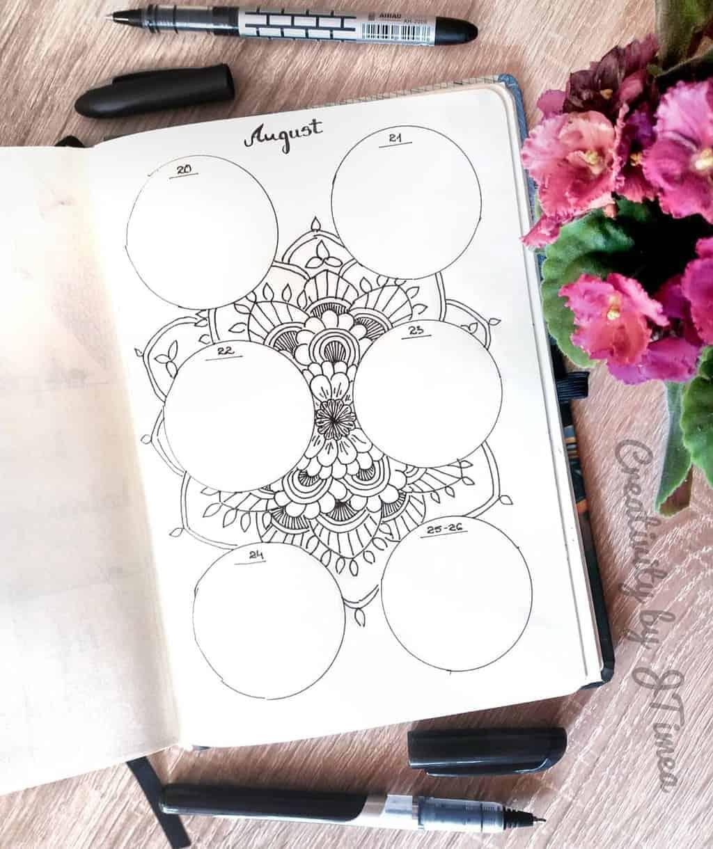 Mandala Bullet Journal Weekly Log by @creativitybyjtimea | Masha Plans