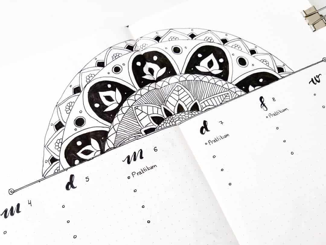Mandala Bullet Journal Weekly by @happyfishbujo | Masha Plans