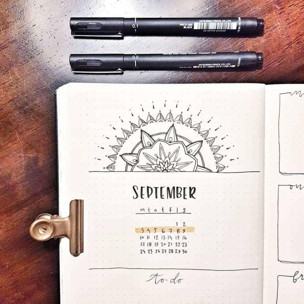 Mandala Bullet Journal Monthly Log by @ifyoucoulddomagic | Masha Plans