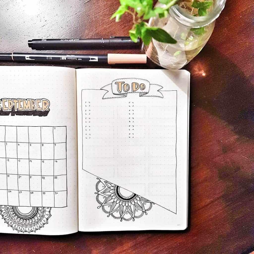 Mandala Bullet Journal To-do List by @ifyoucoulddomagic | Masha Plans