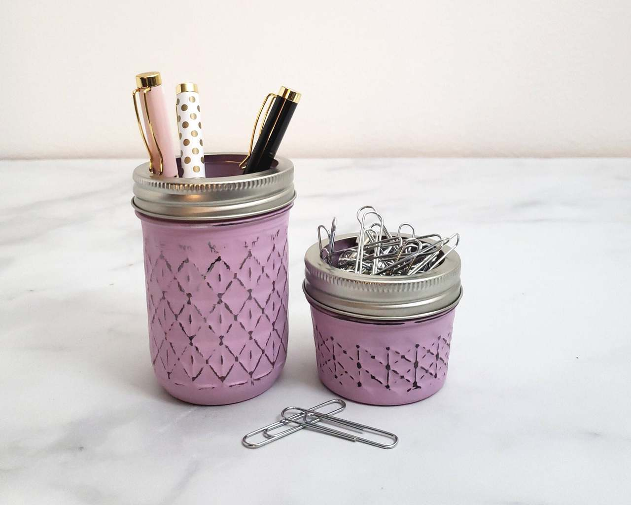 How To Store Your Bullet Journal Supplies - mason jars by ADashOfCharms | Masha Plans
