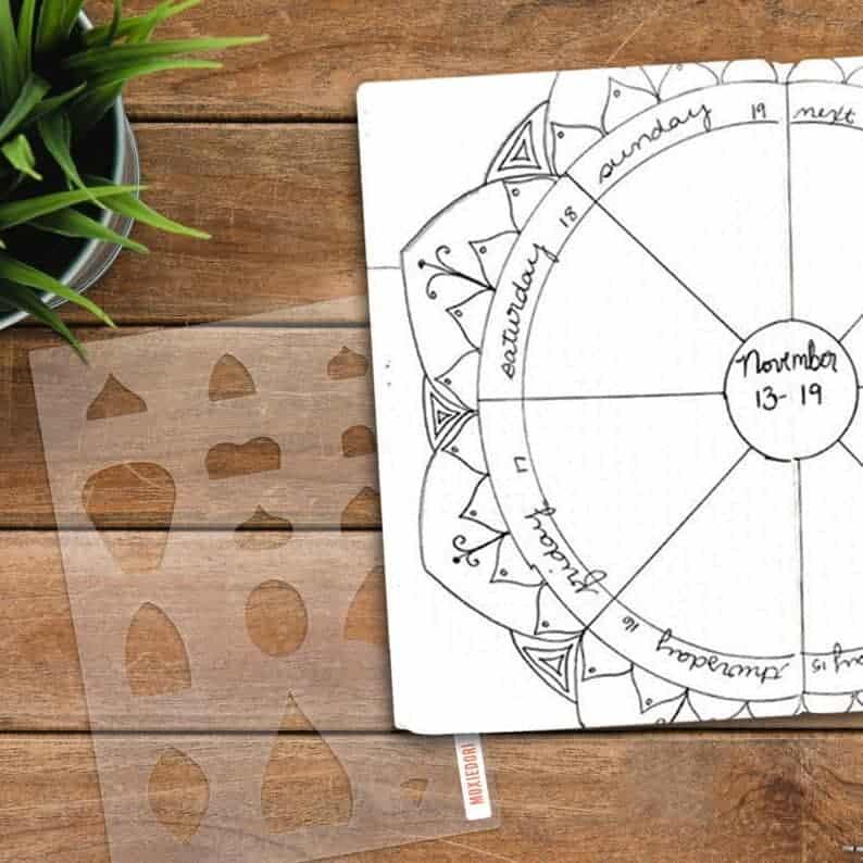 Mandala making stencil by MoxieDori | Masha Plans
