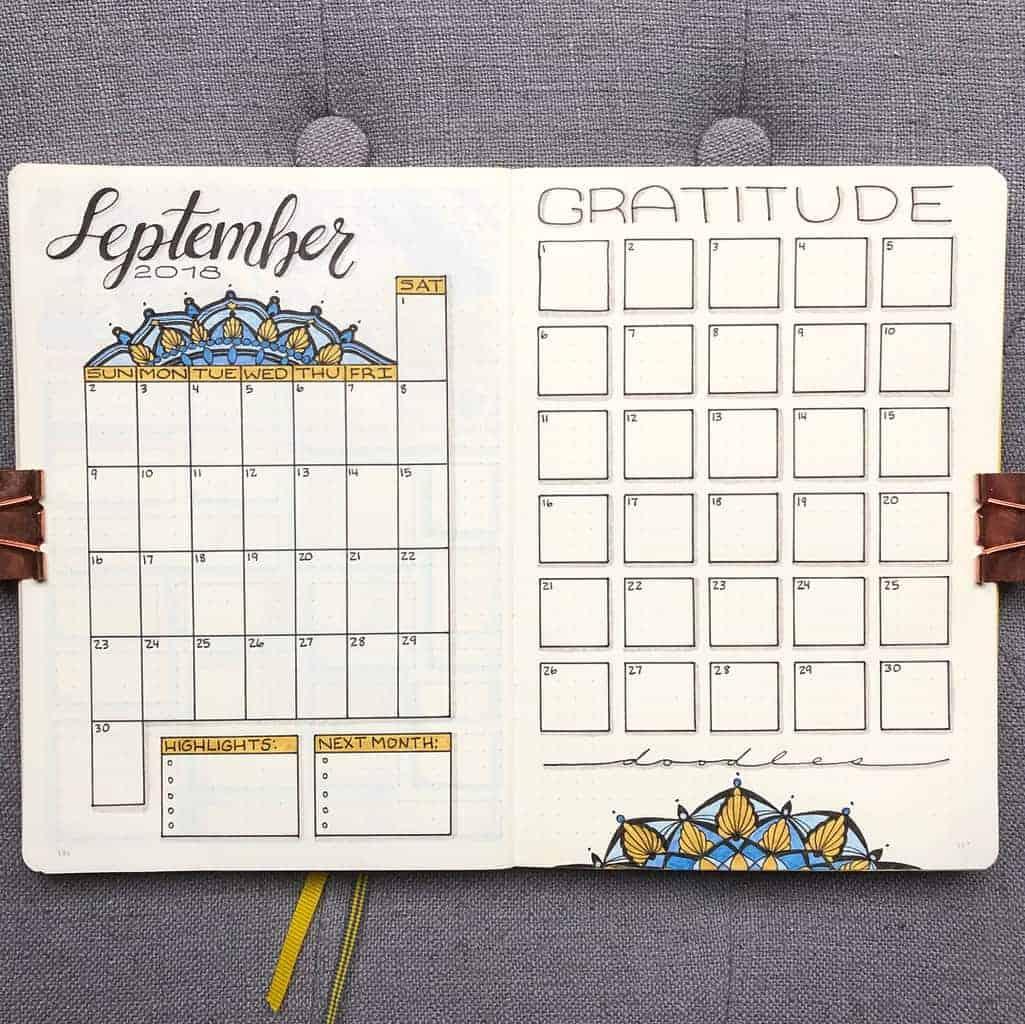 Mandala Bullet Journal Monthly Log by @plansthatblossom | Masha Plans