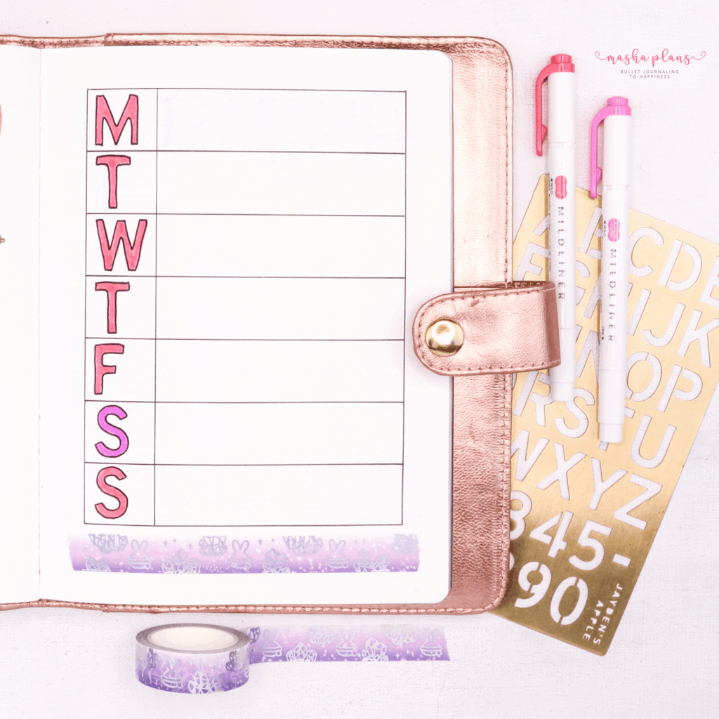 Plan With Me: August Work Bullet Journal Setup - my week | Masha Plans