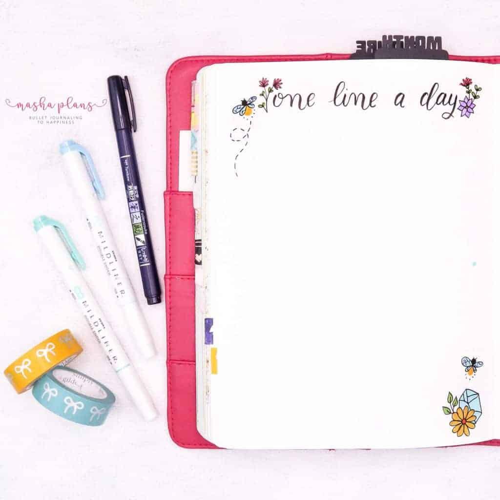 Fireflies Bullet Journal Theme Inspirations - gratitude log | Masha Plans