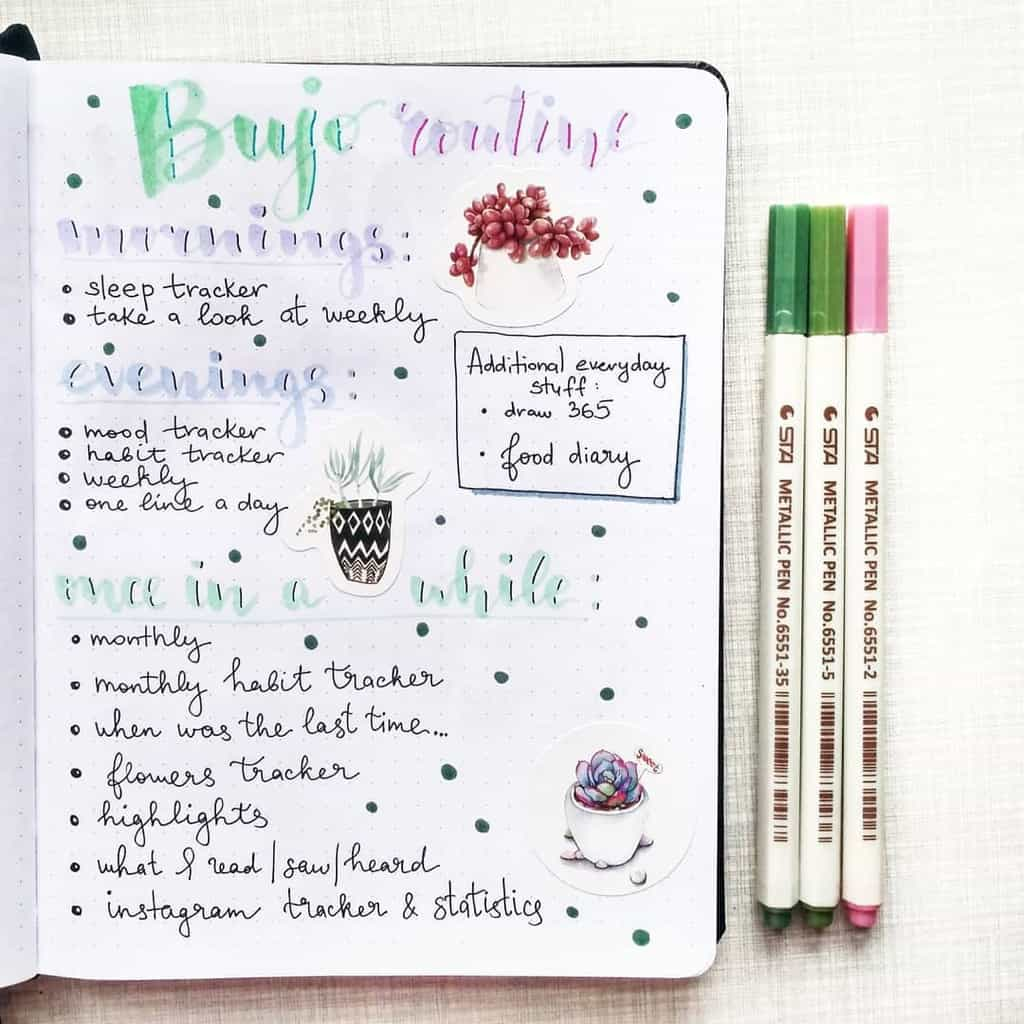 My Bullet Journal Routine Spread by @art_verum | Masha Plans