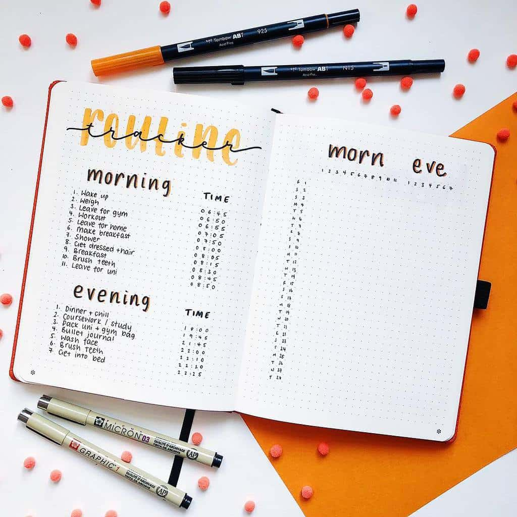 Daily Routines Spread by @brainstormwithteri | Masha Plans