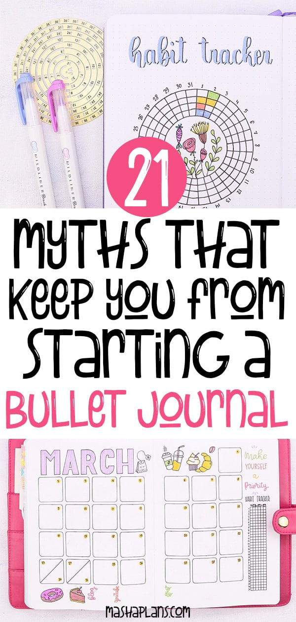 21 Bullet Journal Myths That Stop You From Starting | Masha Plans