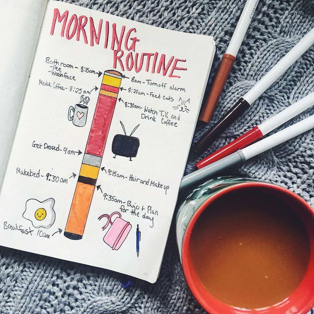 Morning Routine Spread by @chantalkathleen167 | Masha Plans