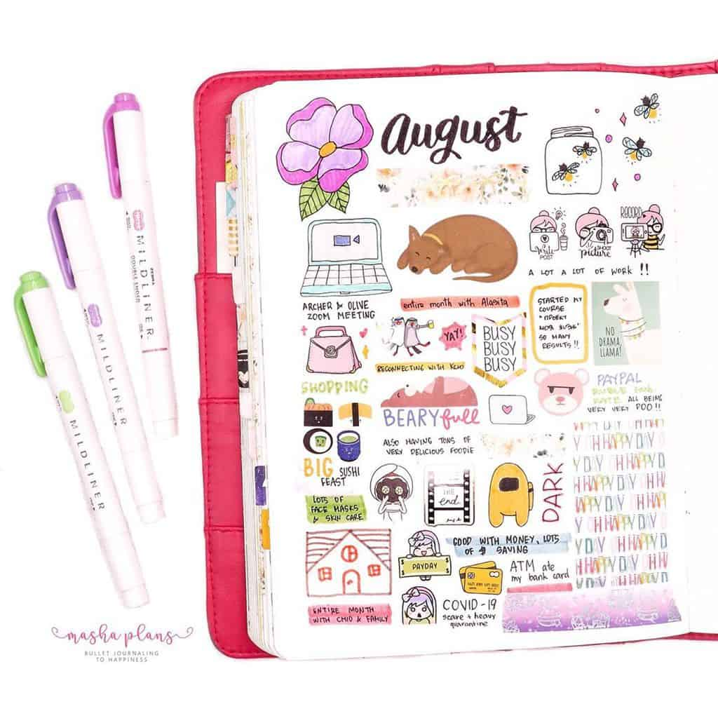 Firefly Bullet Journal Theme Inspirations - weekly | Masha Plans