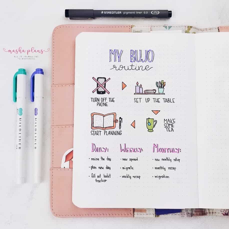 Bullet Journal Planning Routine | Masha Plans