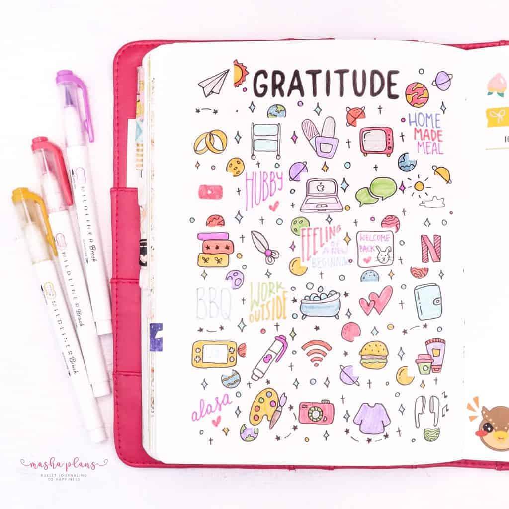 July Gratitude Log In My Bullet Journal | Masha Plans