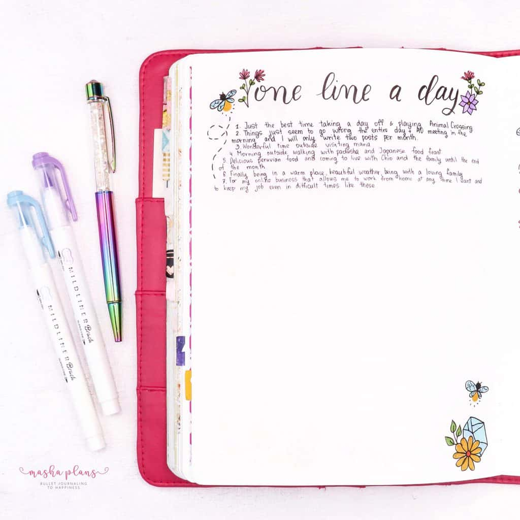August Gratitude Log In My Bullet Journal | Masha Plans