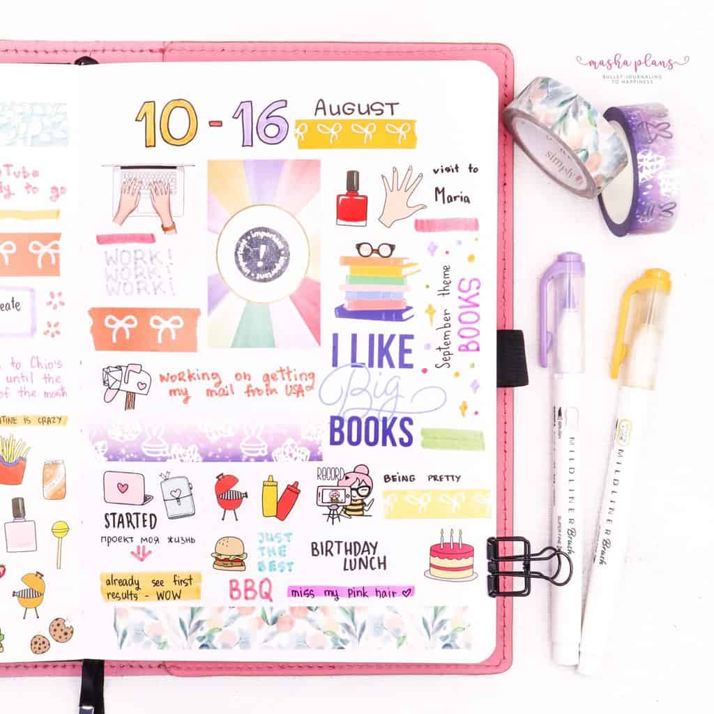 Memory Keeping In Your Bullet Journal - weekly memory page | Masha Plans