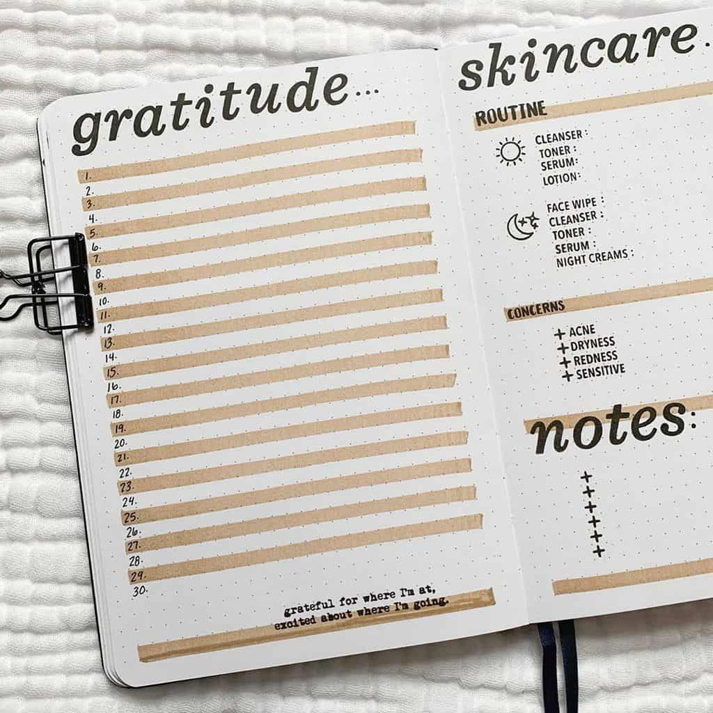 Bullet Journal Gratitude Log by @ashtyn.plans | Masha Plans