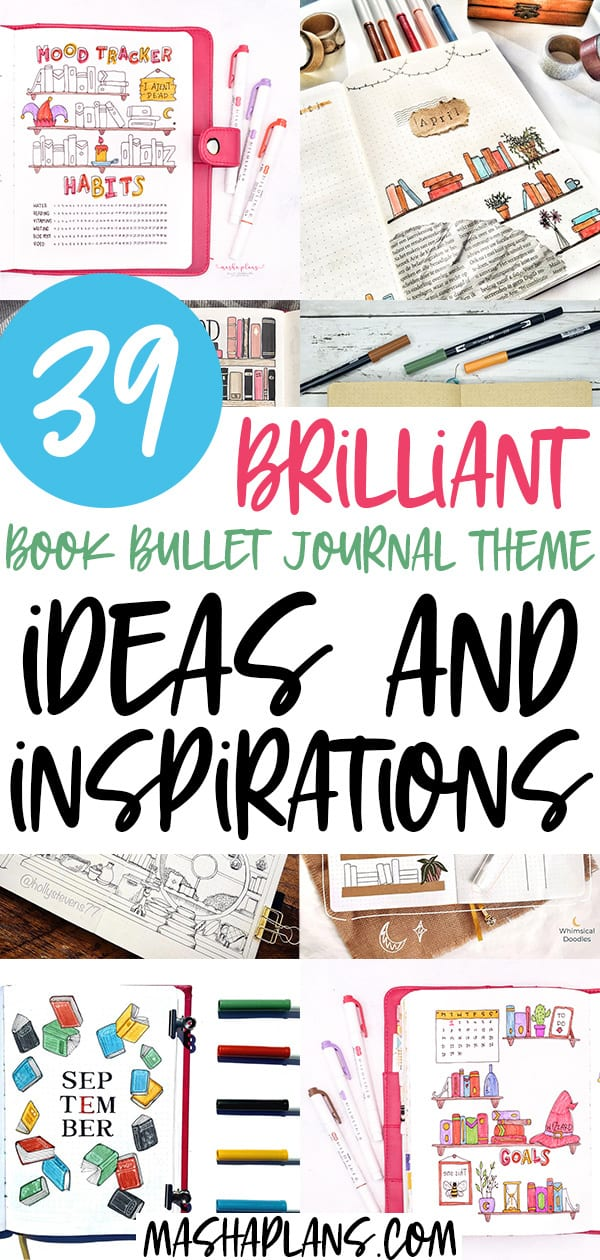39 Brilliant Book Bullet Journal Theme Ideas And Inspirations | Masha Plans