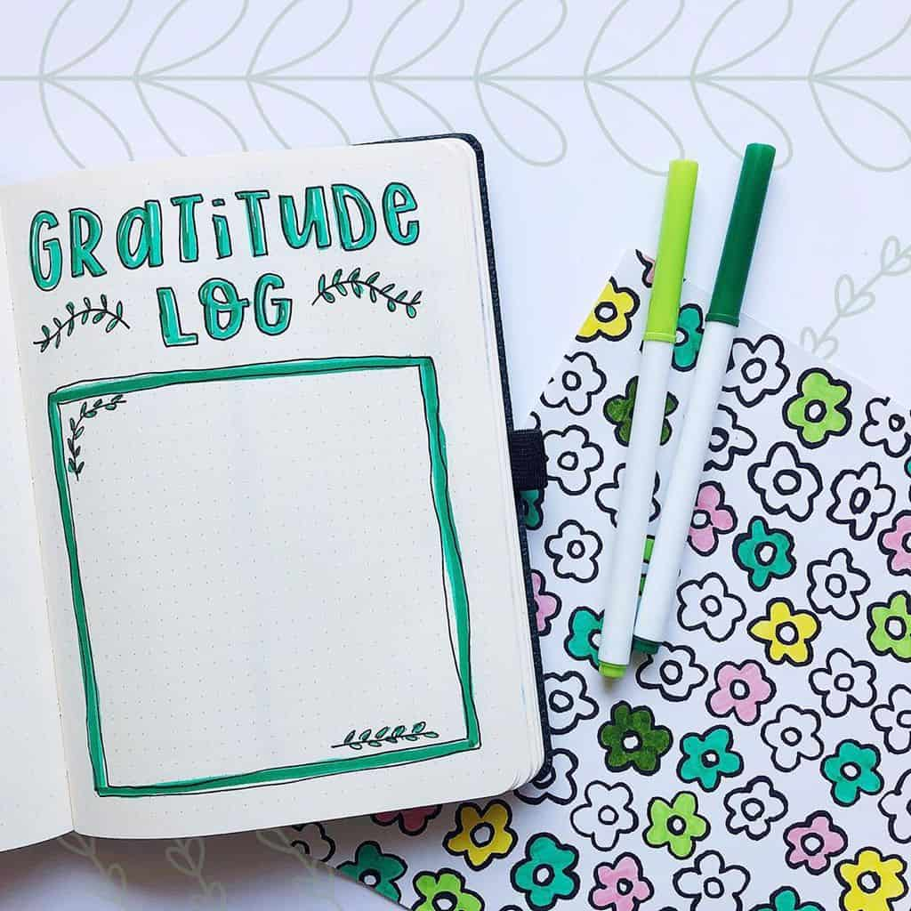 Bullet Journal Gratitude Log by @brainstormwithteri | Masha Plans