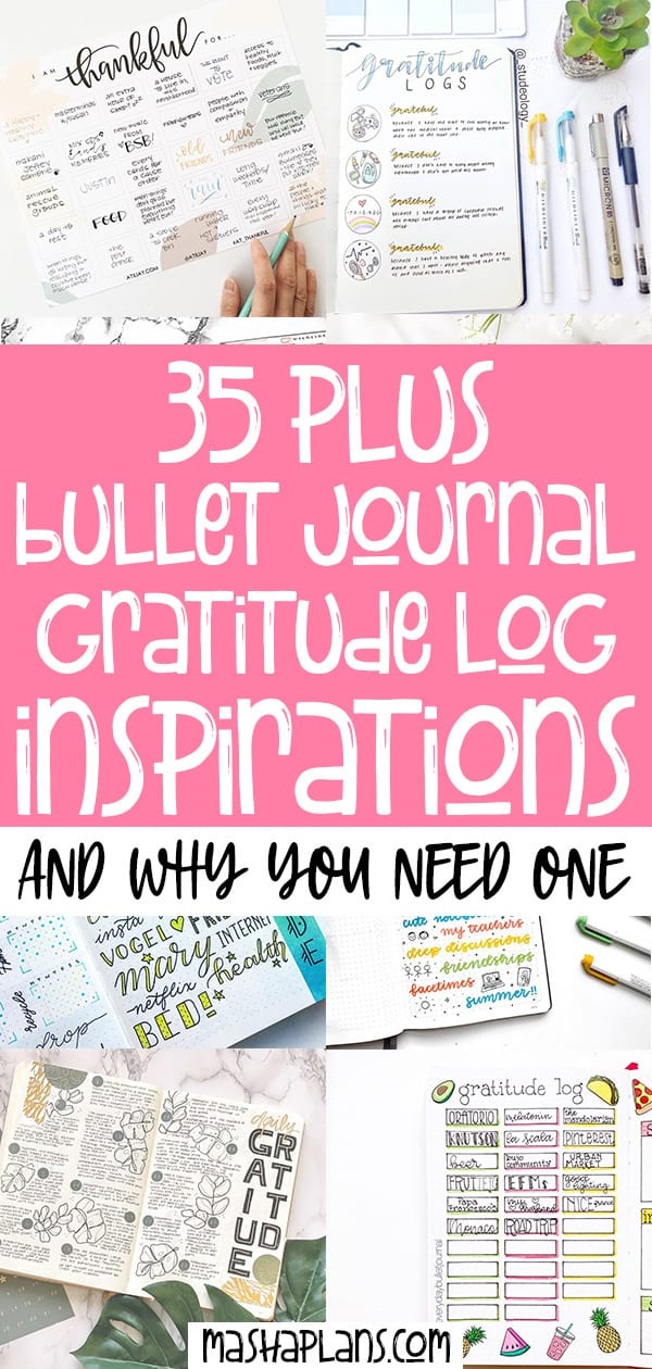Bullet Journal Gratitude Logs For Happiness In Your life | Masha Plans