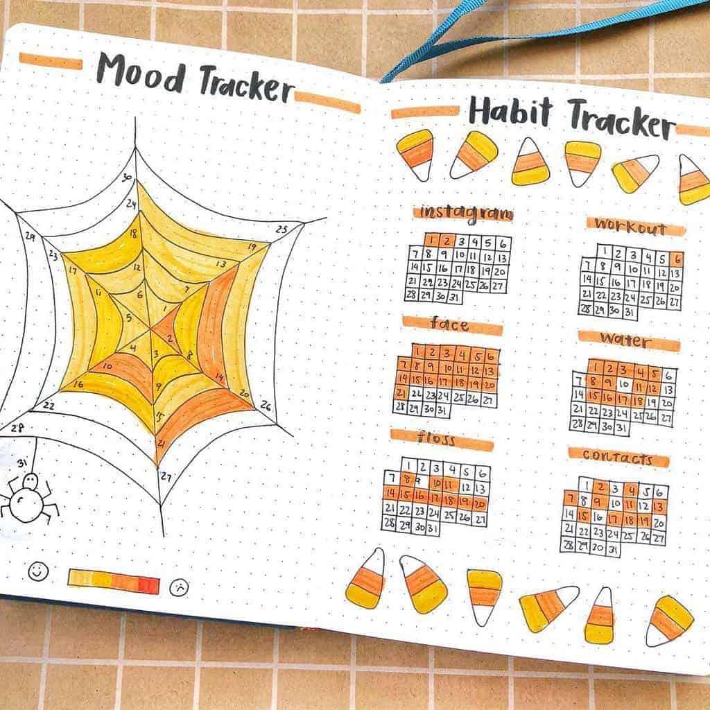 Fall Bullet Journal Theme Ideas - tracker by @creative.juliaaa   Masha Plans