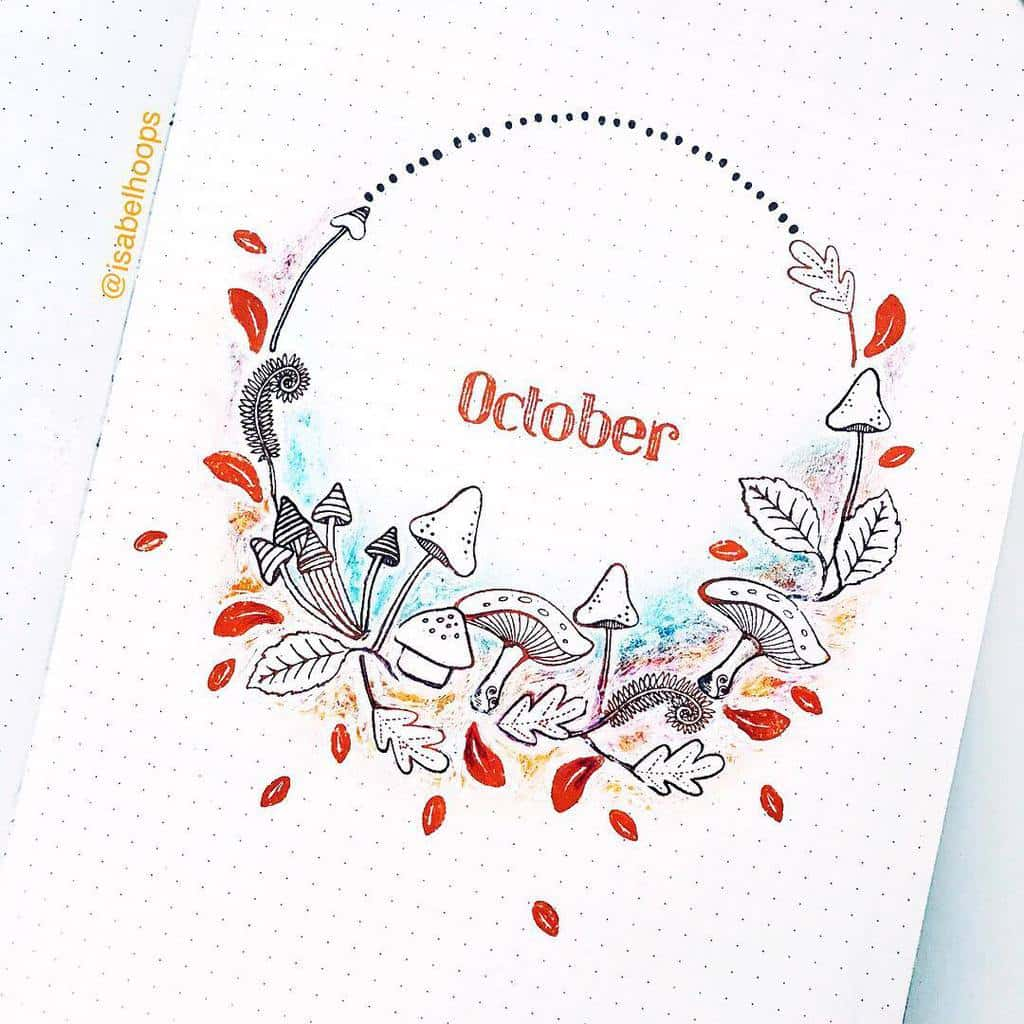 Fall Bullet Journal Theme Inspirations - cover page by @isabelhoops | Masha Plans