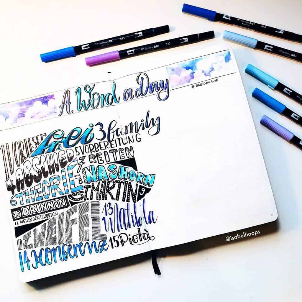 Bullet Journal Gratitude Log by @isabelhoops | Masha Plans