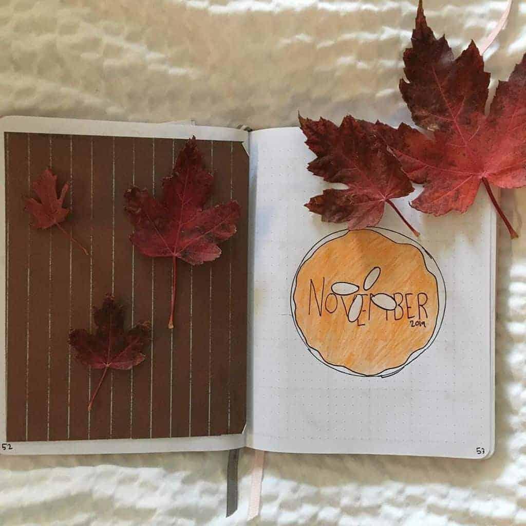 Fall Bullet Journal Theme Ideas - spread by @kulee_bujo   Masha Plans