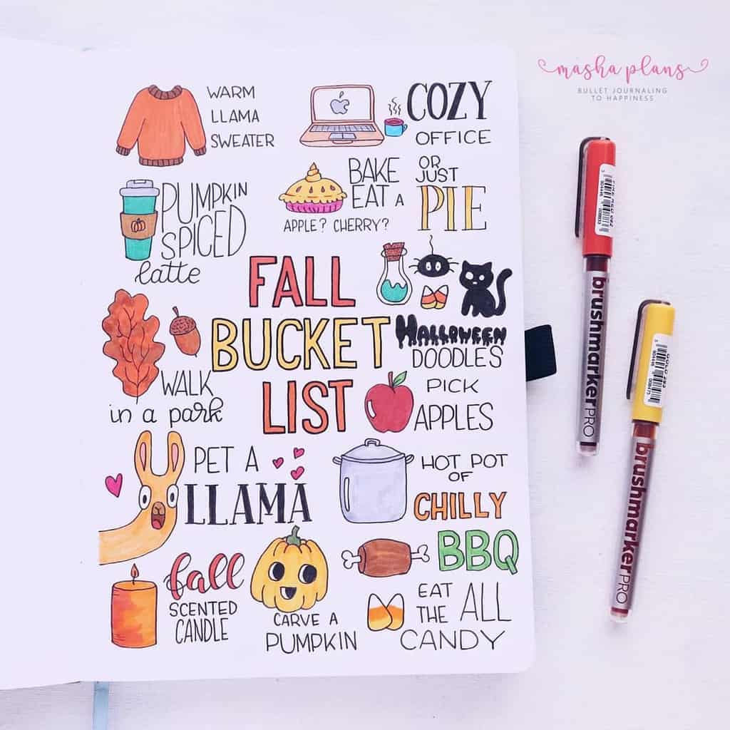 Fall Bucket List   Masha Plans