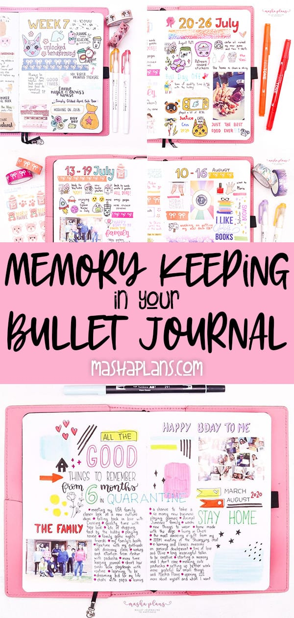 How To: Memory Keeping In Your Bullet Journal | Masha Plans
