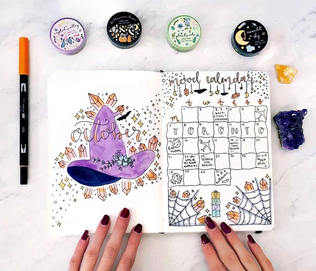 Fall Bullet Journal Theme Ideas - spread by @plan.tful   Masha Plans